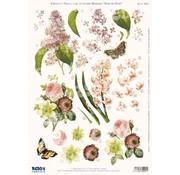 Bilder, 3D Bilder und ausgestanzte Teile usw... A4 punched sheet, 3D flowers