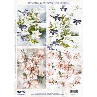 Bilder, 3D Bilder und ausgestanzte Teile usw... A4 gestanst blad, 3D-bloemen