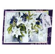Bilder, 3D Bilder und ausgestanzte Teile usw... Feuille perforée A4, fleurs 3D