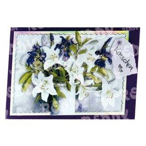 Bilder, 3D Bilder und ausgestanzte Teile usw... A4 stanset ark, 3D blomster