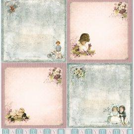 """LaBlanche LaBlanche Design Paper """"Nostalgia de los niños / bebés 2"""" ¡Puro!"""