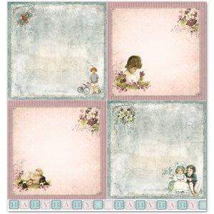 """LaBlanche LaBlanche Designpapier """"Kinder / Baby 3"""" nostalgie Pur!"""