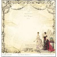 "LaBlanche, designpapir 30,5 x 30,5 cm, ""La Mode Illustree"""