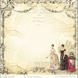 """LaBlanche LaBlanche, designpapir 30,5 x 30,5 cm, """"La Mode Illustree"""""""