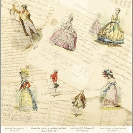 """LaBlanche LaBlanche, carta di design 30,5 x 30,5 cm, """"La Mode Illustree"""""""