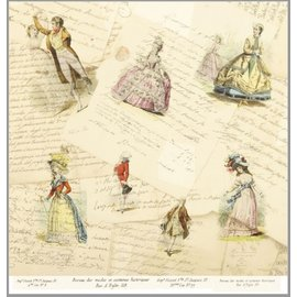 """LaBlanche LaBlanche,  Designpapier 30,5 x 30,5 cm,  """"La Mode Illustree"""""""