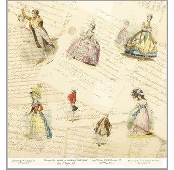 """LaBlanche LaBlanche, design paper 30.5 x 30.5 cm, """"La Mode Illustree"""""""