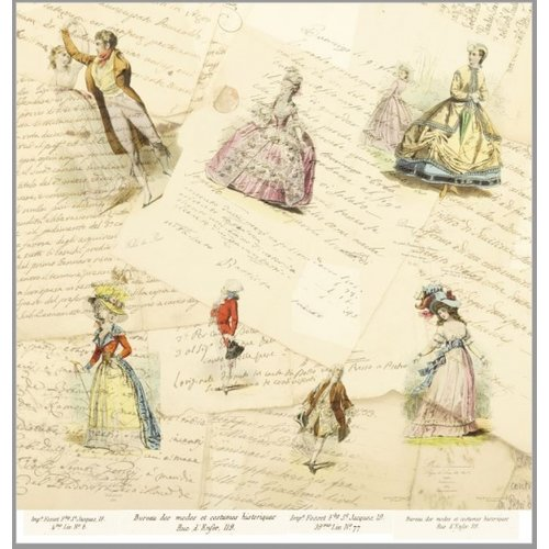"LaBlanche LaBlanche, papier à dessin 30,5 x 30,5 cm, ""La Mode Illustree"""