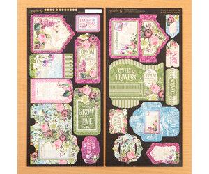 Rice Paper Decoupage Scrapbook Craft Sheet Flowers Window 322