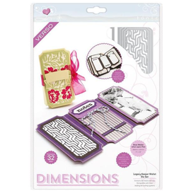 Tonic Stansning skabelon, Stansemal: Dimensions 2394E - Legacy Keeper Wallet Die Set