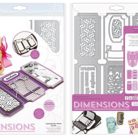 Tonic Studio´s Stansning skabelon, Stansemal: Dimensions 2394E - Legacy Keeper Wallet Die Set
