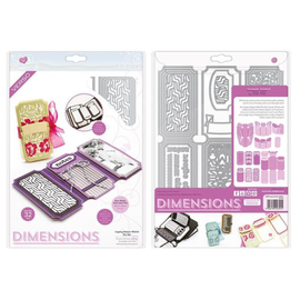 Tonic Studio´s Plantillas de corte: Dimensions 2394E - Legacy Keeper Wallet Die Set