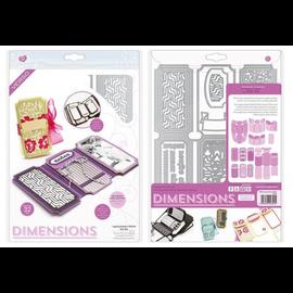Tonic Studio´s Stansning skabelon, Stansemal: Dimensions 2394E - Legacy Keeper Wallet Die Set