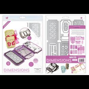 Tonic Studio´s NEU! Tonic Studios, Stanzschablonen: Dimensions 2394E - Legacy Keeper Wallet Die Set. 24 Stanzschablonen SET!