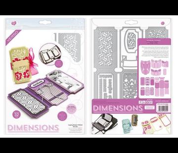 Tonic Studio´s Snijmallen, Sjablonen: Dimensions - Legacy Keeper Wallet Die Set