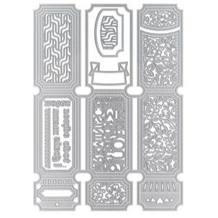 Tonic Studio´s Cutting dies:  Dimensions - Legacy Keeper Wallet Die Set - 2394E