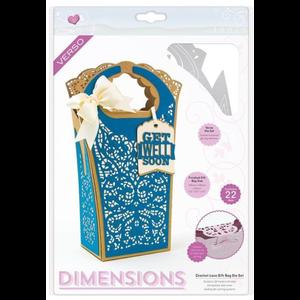 Tonic Studio´s Cutting dies: Book Maker,  Dimensions - Crochet Lace Gift Bag - 2120E