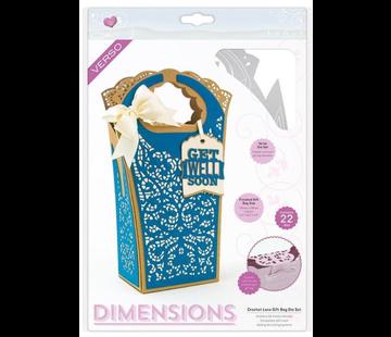 Tonic Studio´s Snijmallen, Sjablonen: Dimensions - Crochet Lace Gift Bag - 2120E