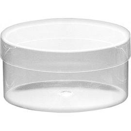 BASTELZUBEHÖR, WERKZEUG UND AUFBEWAHRUNG Acryl Dose transparent oval