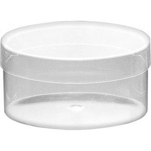BASTELZUBEHÖR, WERKZEUG UND AUFBEWAHRUNG Acrylic box transparent oval