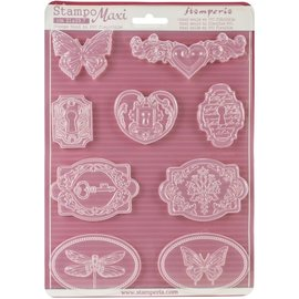Modellieren Stamperia Soft Maxi mold for creating embellishments and much more!