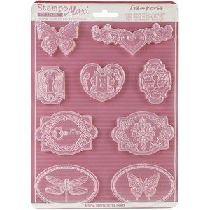 GIESSFORM / MOLDS ACCESOIRES Stamperia Soft Maxi Giessform zum Erstellen von Embellishments und vieles mehr!