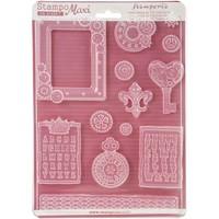 Stamperia Soft Maxi Giessform zum Erstellen von Embellishments und vieles mehr!