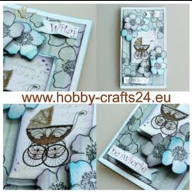 Embellishments / Verzierungen Foglio A4 con etichette, 250 g, tema bambino