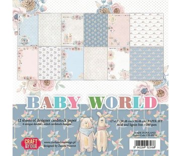 Karten und Scrapbooking Papier, Papier blöcke Paper for cards and scrapbooking, Baby World