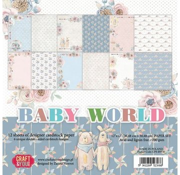 Karten und Scrapbooking Papier, Papier blöcke Carta per carte e scrapbooking, Baby World