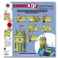 Craft kit for children, knight's castle paper accessories, scrapbooking paper 30.5 x 30.5 cm, thickness: 190 gsm
