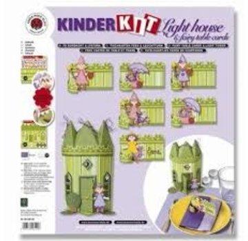 Kinder Bastelsets / Kids Craft Kits Bambini Kit fate castello con giardino fiorito
