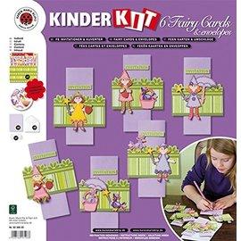 Kinder Bastelsets / Kids Craft Kits Kit de manualidades para niños, 6 tarjetas de hadas + sobres.