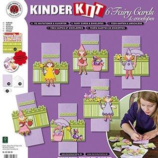 Kinder Bastelsets / Kids Craft Kits Håndværkssæt til børn, 6 eventyrkort + konvolutter