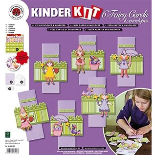 Kinder Bastelsets / Kids Craft Kits Craft kit for children, 6 fairy cards + envelopes