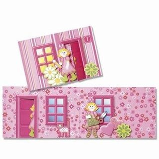 Kinder Bastelsets / Kids Craft Kits Håndværkssæt til børn, Dekokit huskasse med stans figurer, Marie & venner