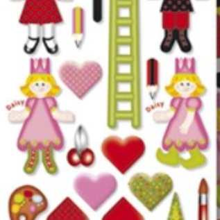 Kinder Bastelsets / Kids Craft Kits Kit de bricolage pour enfants, boîte de maison Dekokit avec chiffres, Marie et ses amis