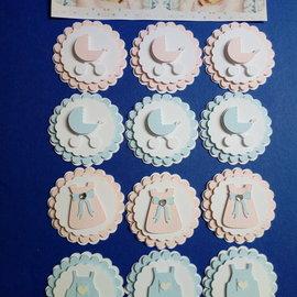 Embellishments / Verzierungen Babyversieringen, 3D, 12 stuks!