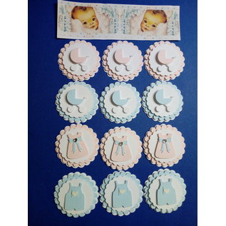 Embellishments / Verzierungen Embellissements de bébé, 3D, 12 pièces!