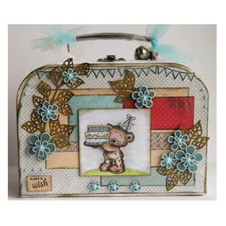 Objekten zum Dekorieren / objects for decorating 1 koffer, wit naar keuze: en 20 x 14 x 7,5 cm of 24,5 x 18 x 8 cm