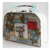 Objekten zum Dekorieren / objects for decorating 2 suitcases, White