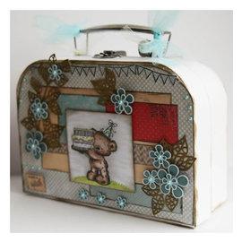 Objekten zum Dekorieren / objects for decorating 1 valigia, bianca a scelta nel formato: e 20 x 14 x 7,5 cm o 24,5 x 18 x 8 cm