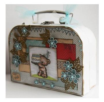 Objekten zum Dekorieren / objects for decorating 2 kufferter, White