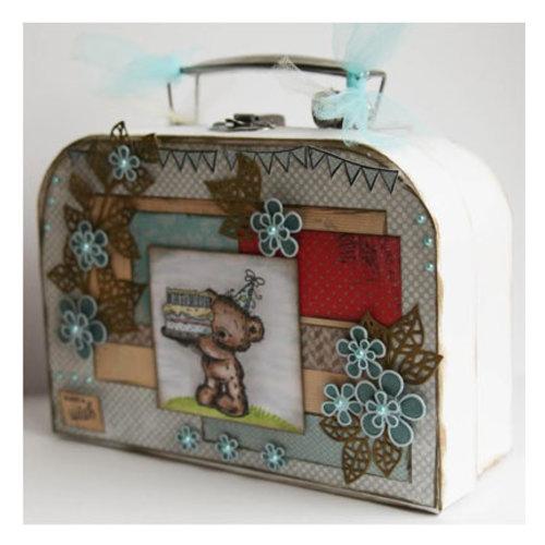 Objekten zum Dekorieren / objects for decorating 2 koffers, White