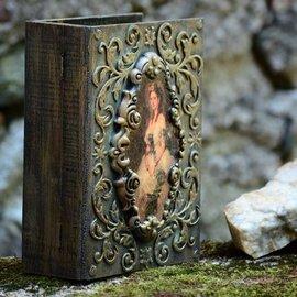 Holz, MDF, Pappe, Objekten zum Dekorieren Buchbox Holz zum Dekorieren,  2 Größen in Auswahl