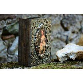 Holz, MDF, Pappe, Objekten zum Dekorieren Buchbox en bois, 2 tailles au choix