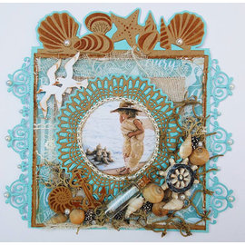 Joy!Crafts / Jeanine´s Art, Hobby Solutions Dies /  Punching Dies, Joy Crafts, Blue Lace Border Circle