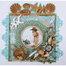 Joy!Crafts / Jeanine´s Art, Hobby Solutions Dies /  Stanzschablonen, Joy Crafts,  Blauer Spitzen-Border-Kreis
