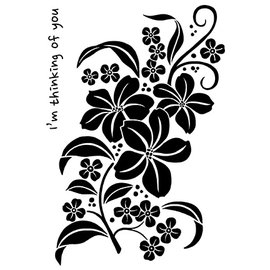 Nellie Snellen Stempel, magnolia-spray