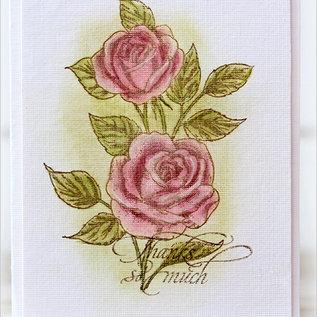 Penny Black Rubber stamp, vintage roses